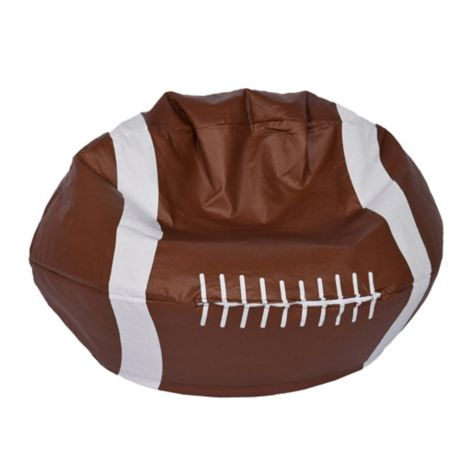 Round Football Bean Bag In Matte Brown