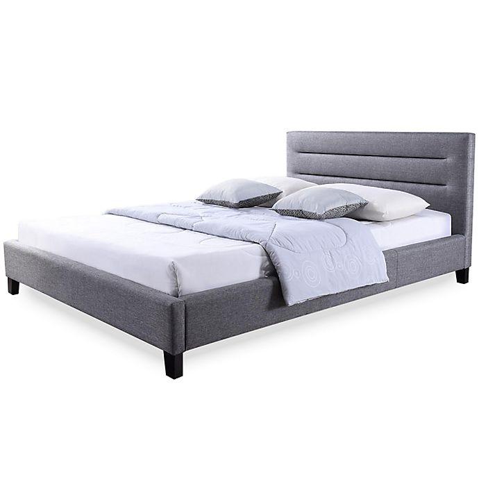 Alternate image 1 for Baxton Studio Hillary Upholstered King Platform Bed in Grey