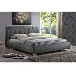 Baxton Studio Marzenia Linen Upholstered Queen Platform Bed