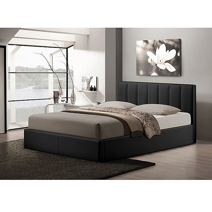 Alternate image 1 for Baxton Studio Templemore Upholstered Queen Platform Bed with Storage