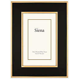 Siena Metallics 8-Inch x 10-Inch Wide Enamel Frame in Black/Gold