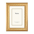 Siena Metallics 5-Inch x 7-Inch Hammered Design Frame in Gold