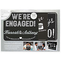 Pearhead® Engagement Announcement Chalkboard Set