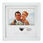 Pearhead® 4-Inch x 6-Inch  Mr. & Mrs.  Wedding Thumbprint Frame in White