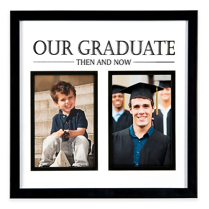 Photoguard 2 Photo Then And Now Graduation Frame In Black Bed