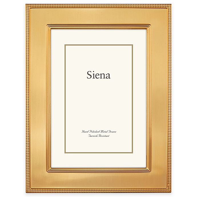 Alternate image 1 for Siena Metallics 8-Inch x 10-Inch Flat Plain Frame in Pearl Gold