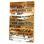 The Sand May Brush Off  Reclaimed Wood Wall Art