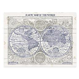 World Map Digitally Printed Wooden Panel Wall Art