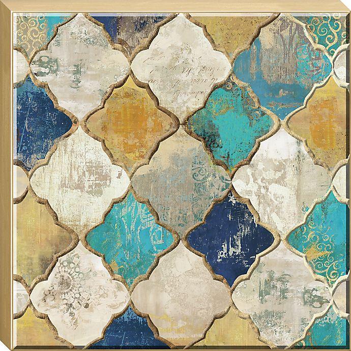 Alternate image 1 for Moroccan Quatrefoil Embellished Canvas Framed Wall Art