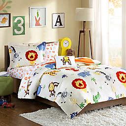 Mi Zone Kids Safari Sam Comforter Set in Orange