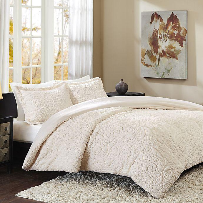Alternate image 1 for Madison Park Norfolk Full/Queen Comforter Set in Ivory