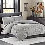 Madison Park Bismarck Ultra Plush King Comforter Set in Grey