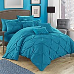 Chic Home Salvatore 10-Piece Queen Comforter Set in Turquoise