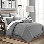 Chic Home Cranston 4-Piece Queen Duvet Cover Set in Grey