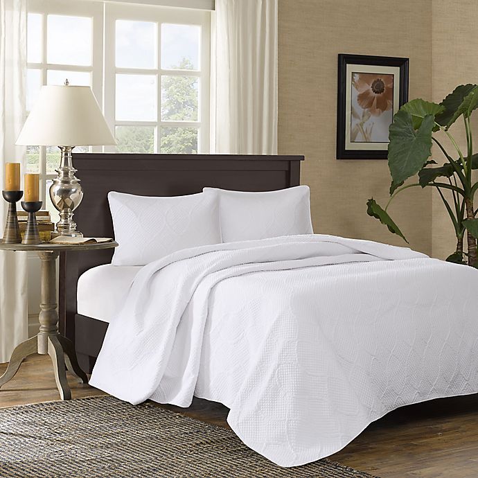 Alternate image 1 for Madison Park Corinne 3-Piece Full/Queen Bedspread Set in White