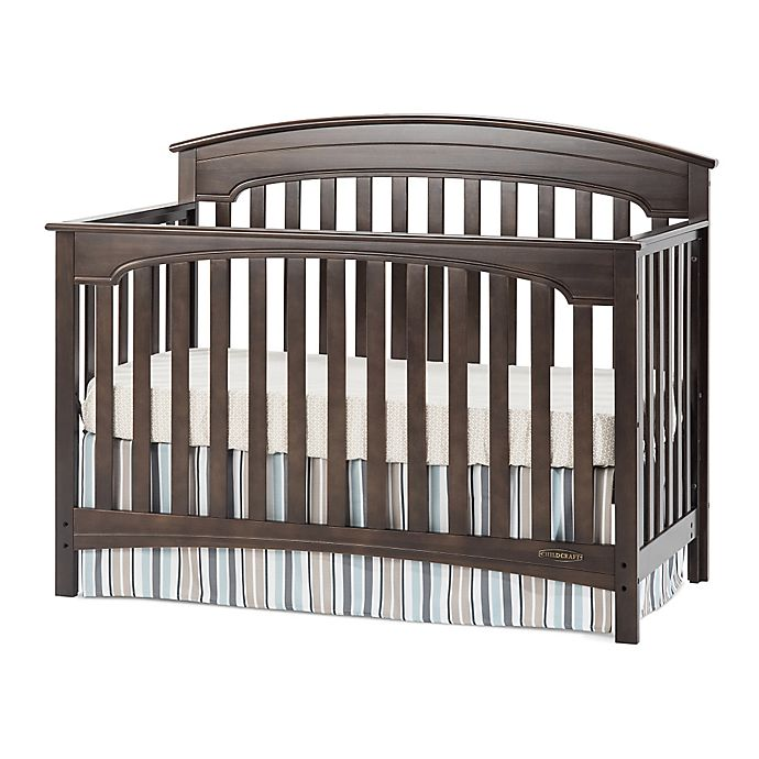 Alternate image 1 for Child Craft™ Wadsworth 4-in-1 Convertible Crib in Slate