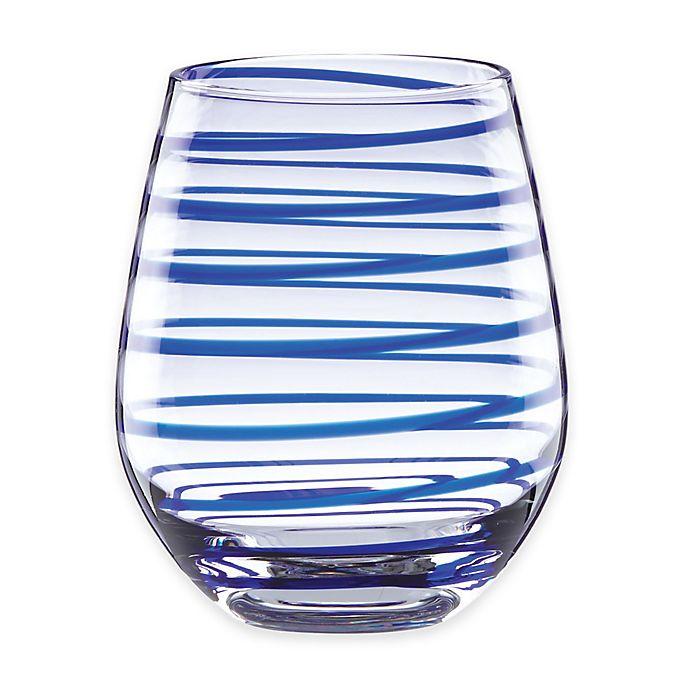 Alternate image 1 for kate spade new york Charlotte Street™ Stemless Wine Glasses (Set of 2)