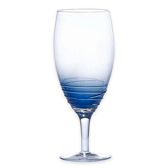 Alternate image 1 for Mikasa® Swirl Iced Beverage Glasses in Cobalt (Set of 4)