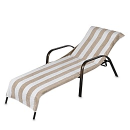 Terry Chaise Lounge Striped Towel