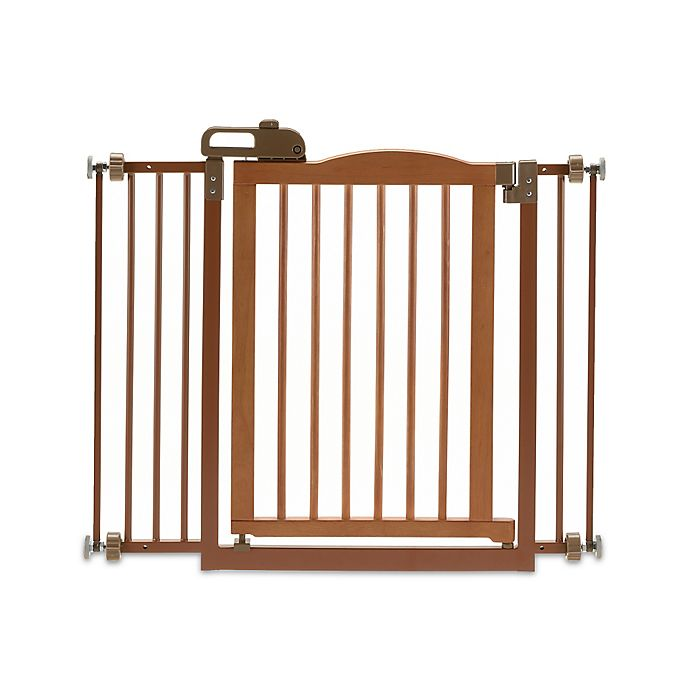 Alternate image 1 for Richell® One-Touch Gate II Pressure Mount Step-Through Pet Gate Collection