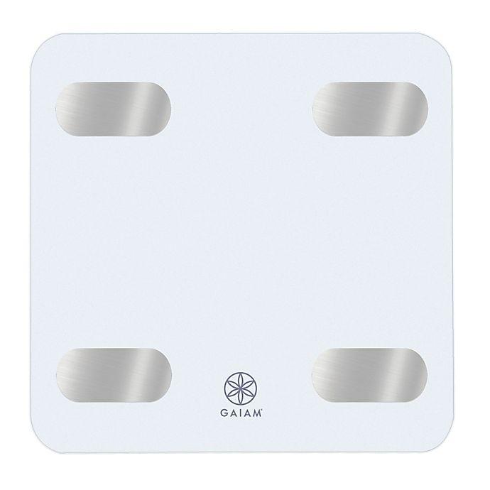 Alternate image 1 for Gaiam® Bluetooth® Smart Bathroom Scale in White