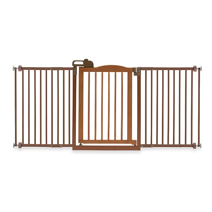 Alternate image 1 for Richell® One-Touch Gate II Wide Pressure Mount Step-Through Pet Gate in Autumn