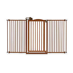 Richell® Tall One-Touch Gate II Wide Pressure Mount Step-Through Pet Gates
