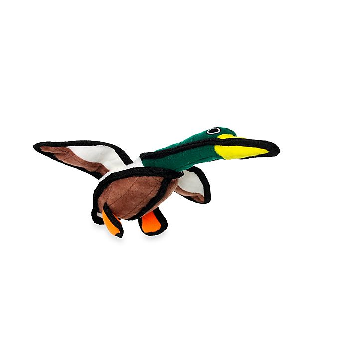 Alternate image 1 for Tuffy® Junior Duck Dog Toy in Green/Brown