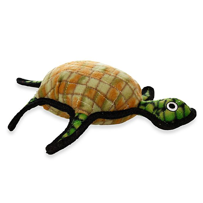 Alternate image 1 for Tuffy® Turtle Dog Toy in Brown/Green