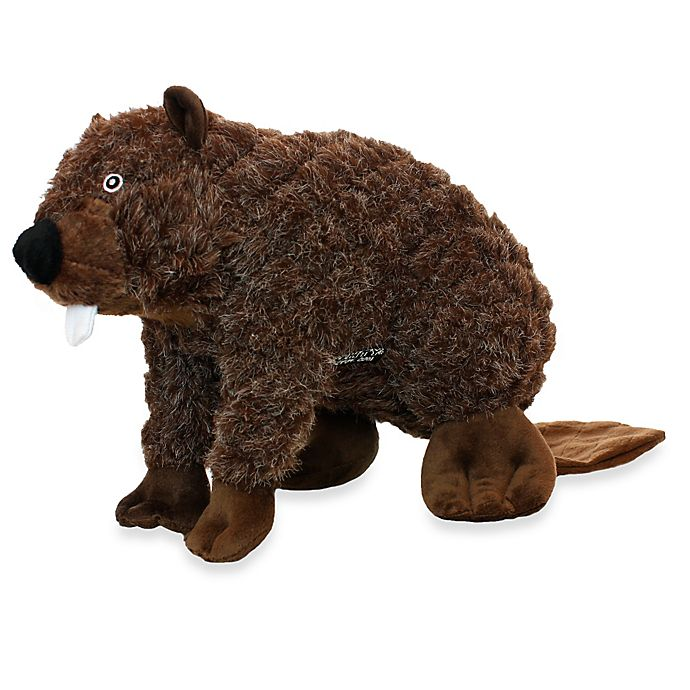 Alternate image 1 for Mighty® Pet Toys Massive Nature Beaver Squeaker in Brown