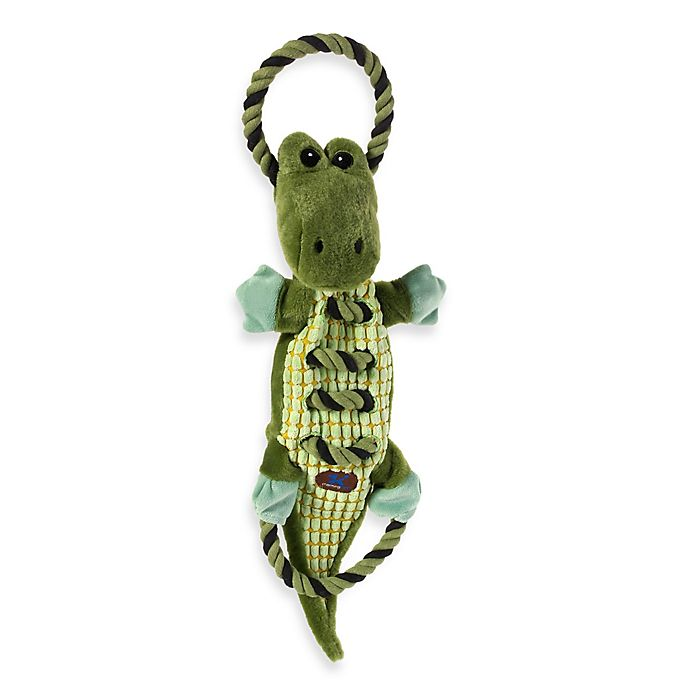 Alternate image 1 for Charming Pet® Ropes-A-Go-Go™ Gator Squeaker Dog Toy in Green