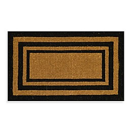 Nature by Geo Crafts Imperial Triple Border 30-Inch x 18-Inch Doormat in Natural/Black