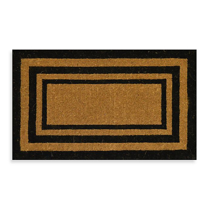 Alternate image 1 for Nature by Geo Crafts Imperial Triple Border 30-Inch x 18-Inch Doormat in Natural/Black