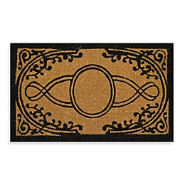 Nature by Geo Crafts Imperial Bristol 30-Inch x 18-Inch Doormat in Beige/Black