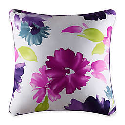 J by J. Queen New York Midori Square Throw Pillow in Fuchsia
