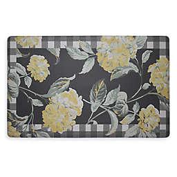 Laura Ashley® Hydrangea 32-Inch x 20-Inch Memory Foam Kitchen Mat in Champagne