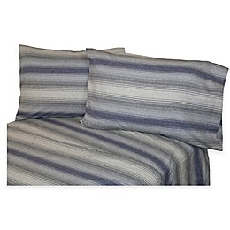 Belle Epoque La Rochelle Collection Striped Heathered Flannel Sheet Set
