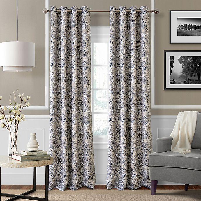 Alternate image 1 for Julianne 84-Inch Blackout Grommet Top Window Curtain Panel in Blue
