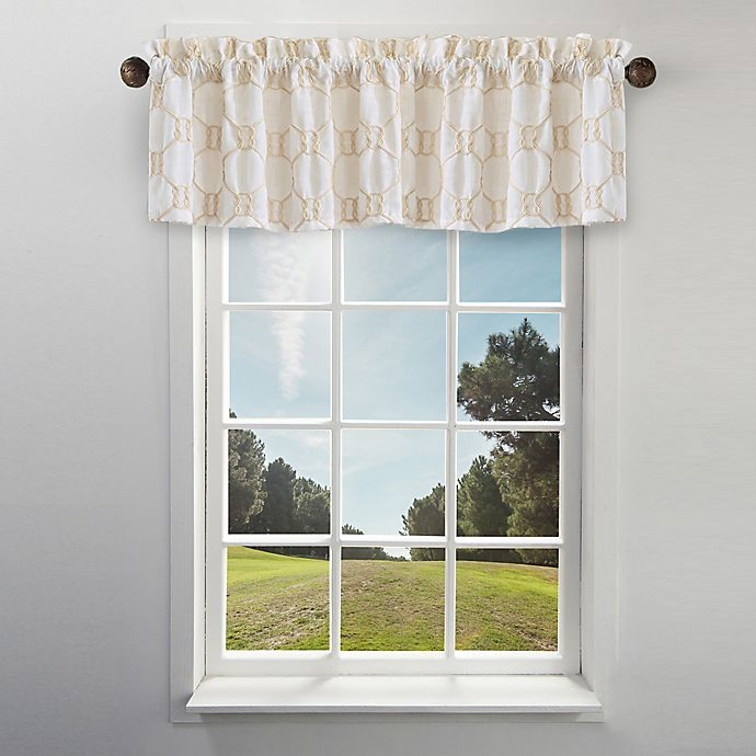 Alternate image 1 for Cape Cod Rope Knot Embroidered Window Valance