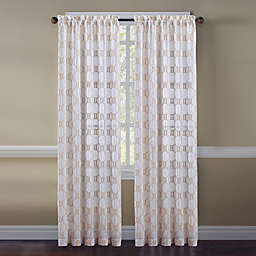 Cape Cod Rope Knot Embroidered Window Curtain Panel and Valance
