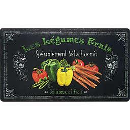 "Home Dynamix Cook N Comfort 35.4-Inch x 19.6-Inch ""Les Legumes"" Anti-Fatigue Kitchen Mat"