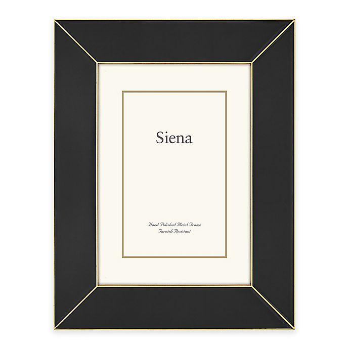 Alternate image 1 for Siena Metallics 4-Inch x 6-Inch Wide Deco Enamel Frame in Black/Gold