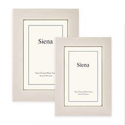 Siena Metallics Flat Plain Deep Profile Frame in Pearl White