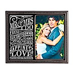 Grasslands Road® 4-Inch x 6-Inch  Modern Love  Wedding Photo Frame in Black