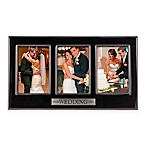 Grasslands Road® 3-Photo  Our Wedding Day  Ceramic Collage Frame in Black