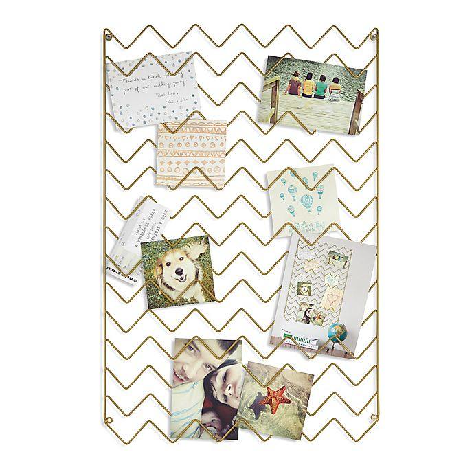 Alternate image 1 for Umbra® Zig Zag Photo Collage Display in Gold