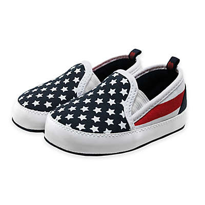 Stepping Stones Stars and Stripes Slip-On Sneaker in Blue