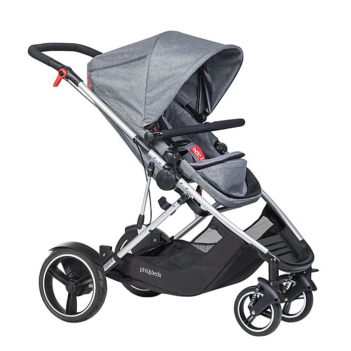 Alternate image 1 for phil&teds® Voyager™ Inline Stroller in Grey Marl
