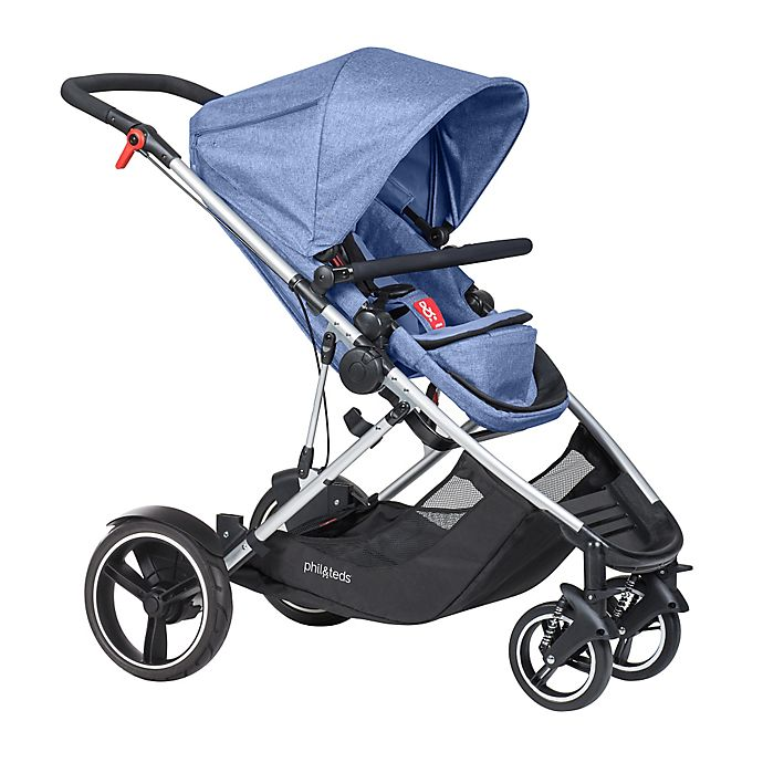 Alternate image 1 for phil&teds® Voyager™ Inline Stroller in Blue Marl