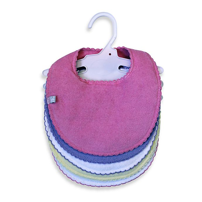 Alternate image 1 for Frenchie Mini Couture 5-Pack Girls Bibs